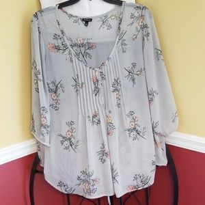 Torrid pintuck blouse